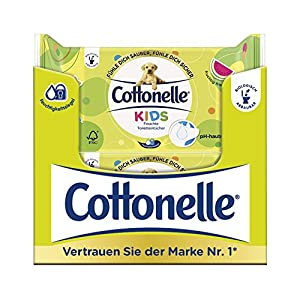 Cottonelle Feuchtes Toilettenpapier Kinder Nachfüllpack, 12er Pack  (12 x  42 Tücher)