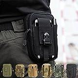 CAMTOA Tactical Hüfttasche Gürteltasche Handytasche, Mode Multifunktionale Kit Bag Beutel für Camping Wandern Outdoor Schwarz -