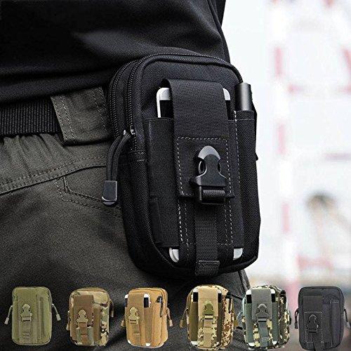 CAMTOA multifunzione Poly portautensile EDC Pouch Camo sacchetto militare di nylon Utility Tactical marsupio escursione di campeggio Pouch nero