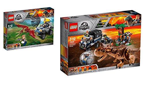 Steinchenwelt LEGO Jurassic World 2er Set: 75926 Pteranodon-Jagd + 75929 Carnotaurus - Flucht in der Gyrosphere