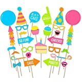#8: PARTY PROPZ HAPPY BIRTHDAY THEME PHOTOBOOTH PROPS 30 PCS