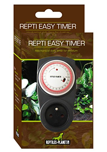 Reptiles Planet Mechanische Zeitschaltuhr für Beleuchtung Terrarium Reptilien Easy Timer