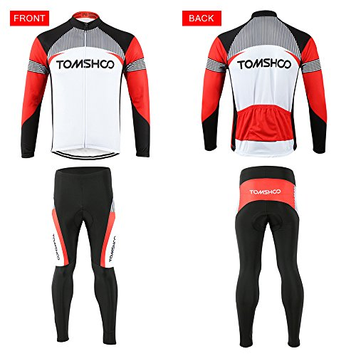 31c9734e1 TOMSHOO Spring Autumn Men Cycling Clothing Set Sportswear Road ...