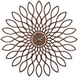 Karlsson KA5573 Wall clock - Wanduhr - Sunflower MDF - Walnussholzfurnier