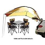 Sport Tent-Wasserdichtes Vorzelt Vordach Tragbares Auto SUV Heckzelt Klappzelt Anhänger Markise mit 2St Sandsäcke für Camping 4 Personen (Gelb/rot)