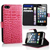 LAPINETTE–Crocodile Flip Cover Case for Apple iPhone–White