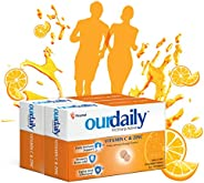 Ourdaily vitamin c(500mg) & zinc chewable tablets-builds immunity daily against viruses and cold-240 table