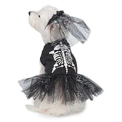 Spooky Kostüm Skelett - Casual Canine Hundekostüm Skelett Zombie, Large, schwarz