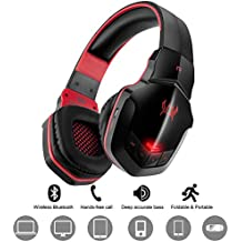 Inalámbrico Gaming Headset Auriculares para PC Tablet iPhone iPad Samsung Smartphone Laptop PS4Xbox One diwuer Bluetooth V4.1Auriculares de diadema con micrófono