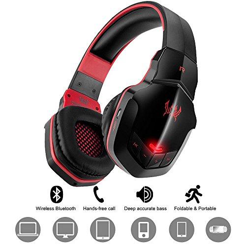 Wireless gaming headset diwuer v4.1 overear bluetooth cuffie con microfono per pc computer mac di iphone smartphone