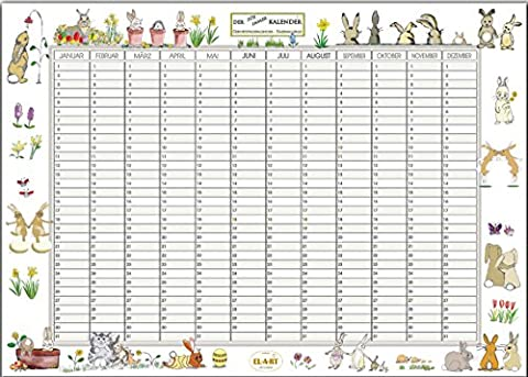 Kalender, Geburtstagskalender, der FÜR IMMER KALENDER, DIN A3, 250 gr.