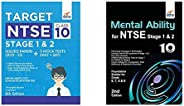 Target NTSE Class 10 Stage 1 & 2 Solved Papers (2015 - 19) + 5 Mock Tests (MAT + SAT)&Mental Ability f