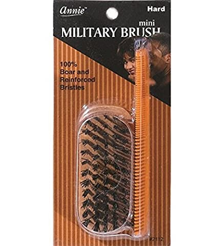Mini Military Hard Brush with 100% Boar and Reinforced Bristles and 4.8