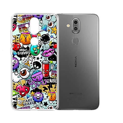 "KJYF Hülle für Nokia8.1(6.18""), Schutzhülle Bumper Hülle Cover TPU Silikon Schale Ultra Dünn Case Handyhülle Cover.[XS40]"