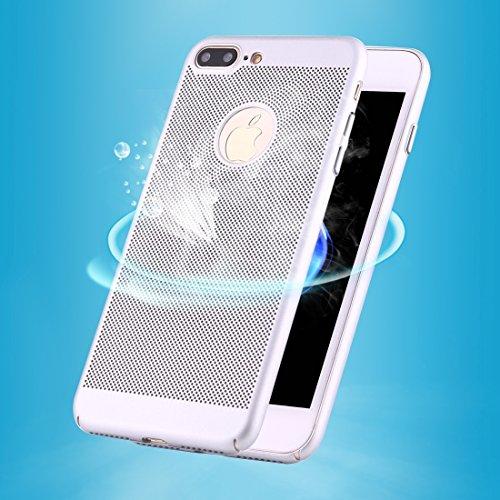BING per iPhone 7Plus leggero traspirante Full Coverage PC Case antiurto telefono della copertura posteriore Bing argento
