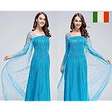 Waiwaizui - Vestido disfraz vestido de noche elegante traje de grandes circunstancias adulto disfraz mujeres cosplay moda Frozen vestido de noche de Elsa princesa fiesta Navidad venta para el aniversario entrega rápida