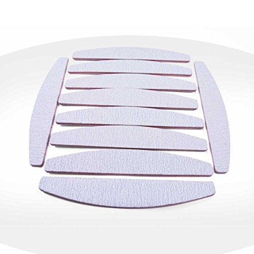 Ocibel–10lime per unghie zebrato mezzo luna 100/180–manicure, unghie finte e nail art