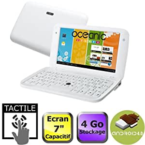 "Oceanic "" Netbook 7"""" Tactile Blanc"""