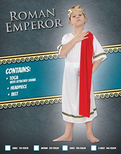 Imagen de disfraz de niño del emperador romano césar. 10  13 años alternativa