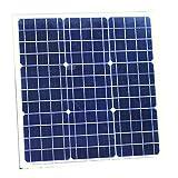 PK Green Panel Solar 12V 40W Portátil Monocristalino Exterior para Camping, Caravanas, Camper, Coche, Cargar Batería 12V