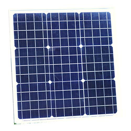 Panel solar de 40W con el cable - batería 12V, barco, caravana, coche, furgoneta, autocaravana, acampando, cobertizo Monocristalino por PK Verde Si está buscando el panel solar perfecto de 40W, lo ha encontrado. Este panel solar tiene la última tecno...