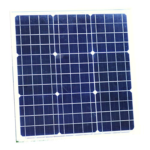 40W Sonnenkollektor mit Kabel - 12V Batterie, Boot, Wohnwagen, Auto, Van, Wohnmobil, Camping, Schuppen Monokristallin von PK Green