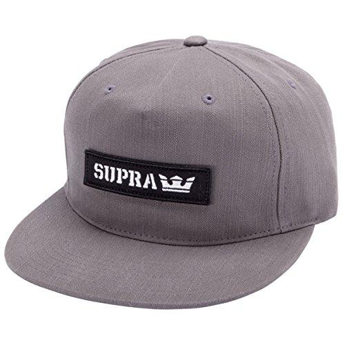 Preisvergleich Produktbild Supra Snapback Kappe Mark Patch Dunkelgrün (One Size ,  Grau)