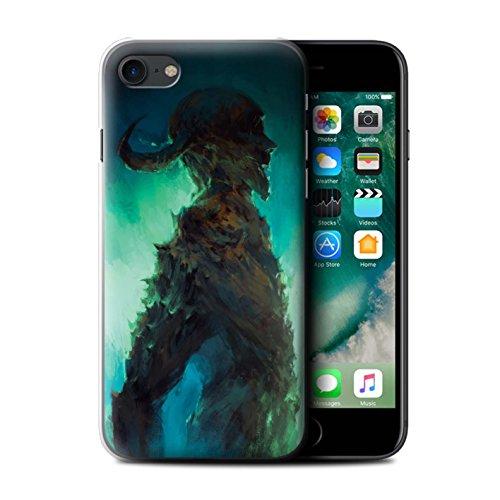 Offiziell Chris Cold Hülle / Case für Apple iPhone 7 / Gehörnter Dämon Muster / Dämonisches Tier Kollektion Gehörnter Dämon