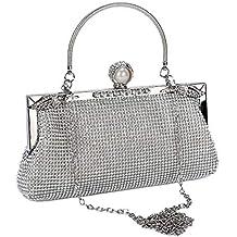 9d5178b049 BAIGIO Pochette Donna Elegante da Cerimonia, Clutch Donna, Borsa a Tracolla  Catena, Borsetta