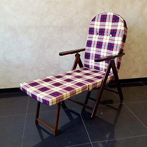 Totò Piccinni Fauteuil Chaise Relax Campanie Amalfi avec rallonge Jambes (Bordeaux) en Bois inclinable 4 Positions Coussin rembourré séjour Cuisine Jardin Salon canapé