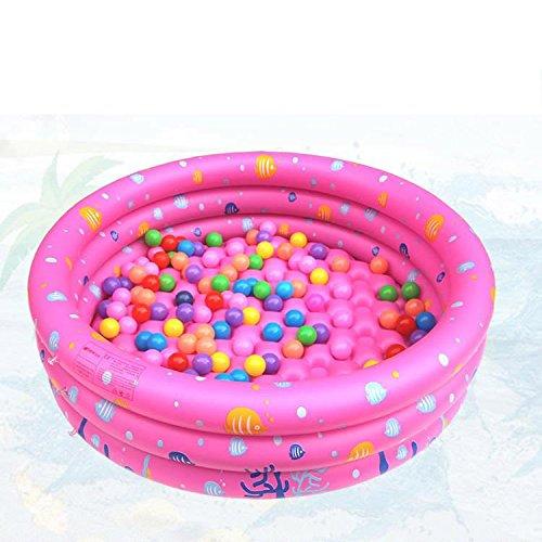 Preisvergleich Produktbild Kinderplanschbecken Hause PVC aufblasbaren Pool Kinder verdickte 0-4 Jahre alt Baby-Spielzeug Ball-Pool , pink , 150cm
