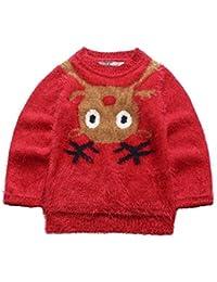 ELSA & ANNA® Calidad Niñas Puente de Navidad Suéter de Navidad Xmas Saltador Christmas Jumper ES-REDJUM11