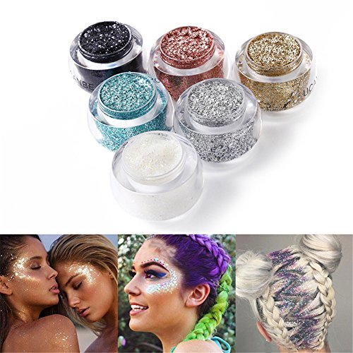 05 Einzelnes Licht (Greencolourful Glitter Gel Pigment Perle Licht Blitz Helles Pulver für Gesicht, Körper, Haar (#05))