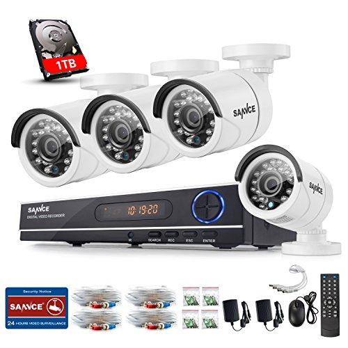 Video-Vigilancia-Vigilancia-8-CH-1080-N-AHD-DVR-Recorder-con-4-x-720p-Dome-Vigilancia-Cmaras-de-vigilancia-IP66-impermeable-visin-nocturna-de-hasta-30-metros-para-interior-y-exterior-Vigilancia-1TB-Di