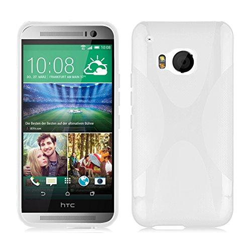 Preisvergleich Produktbild Cadorabo ! Silikon TPU Schutzhülle im X-Line Design für HTC ONE (M9 - 3.Generation) in MAGNESIUM-WEIß