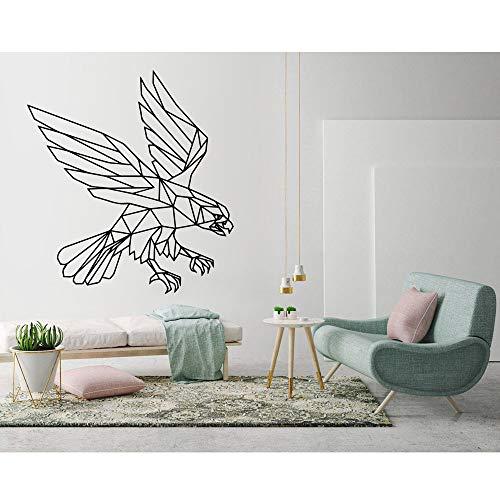 BFMBCH Adler Wandkunst Aufkleber Moderne Geometrische Dekoration Wohnzimmer Schlafzimmer Vinyl Applique Wandbild Fliegen Tier Aufkleber Kinderzimmer Spielzimmer Wandaufkleber 27 grau 42x45 cm (Traktor Ford Uhr)
