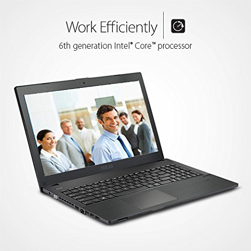 "ASUS P2530UA-XH31 P-Series Business Laptop, 6th Gen Intel Core i3, 15.6"" HD Display, 4GB RAM, 500GB HDD, Windows 10 Pro"