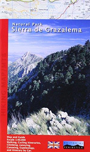 Mapa Natural Park Sierra de Grazalema (English). Escala 1:40.000. Editorial Penibética.