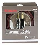 Kirlin IWB201-3BR Premium Plus Câble jack pour Instrument Rouge