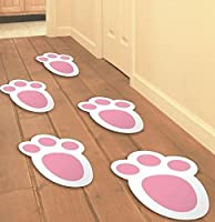 15 Easter Bunny Track Foot Feet Print Easter Party Home Decoration Kid Child Fun Garden Egg Hut Game