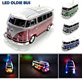 Nostalgie LED Bully Bus Box | Bluetooth | Rot | Car Multimedia Spaeker | Radio | MP3 | USB | MicroSD...