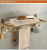 WEMUR Bad Handtuchhalter Doppel Handtuchregal mit Haken Badezimmerzubehör