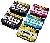 Prestige Cartridge HP 932XL / HP 933XL 5-er Pack Druckerpatronen für HP Officejet 6100, 6600, 6700, 7110, 7600, 7610, 7612, schwarz / cyan / magenta / gelb