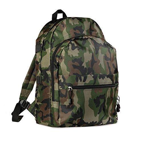 Economico zaino trekking scuola passeggio varie tasche militare mimetico