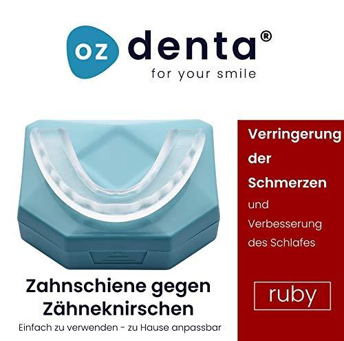 NEU Professional Aufbissschiene mit Minzgeschmack (2 Stk) inkl. Aufbewahrungsbox BPA frei Zahnschutz beim nächtlichen Zähneknirschen Knirscherschiene Zahnschiene 100% ige Zufriedenheitsgarantie