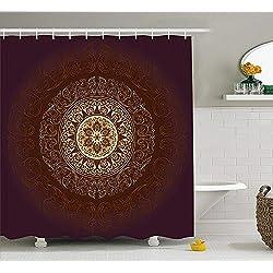 Cortina de Ducha Vintage con diseño de Mandala