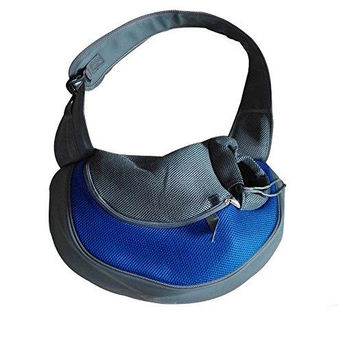 Kleine Pet Tragetasche für Hunde und Katzen, Outdoor-Umhängetasche, Reisetasche für Yorkie, Chihuahua (S: 38*10*20 cm, Blau)