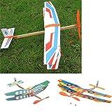 B Baosity DIY Flugzeug Gummimotor Modell Lernspielzeug für Baby/Kinder - Grün