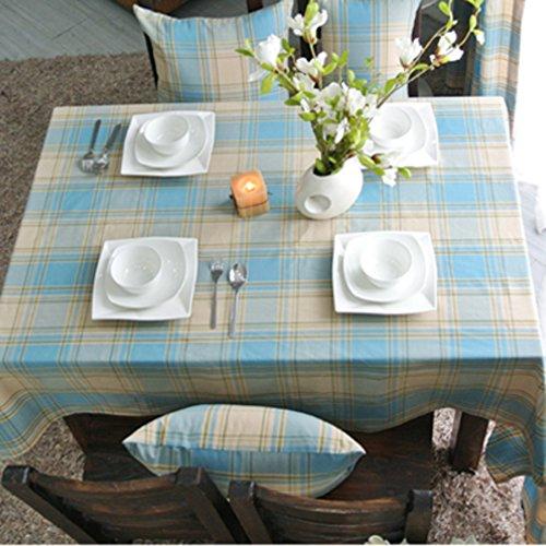 GX&XD American Style Dorf Karierte tischdecke,Teetisch Tischdecke für esszimmer Tischtuch Tischdecken rechteck Tv-Schrank Bedeckung-Tuch-D 140x200cm(55x79inch) -