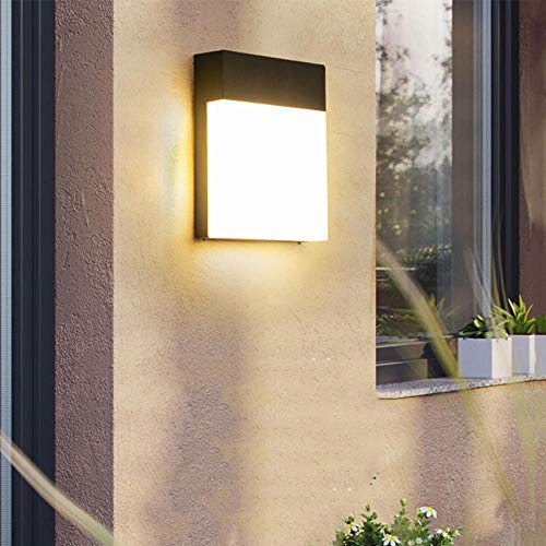 LED Außen wasserdichte Wandleuchte Gehweg Haustür Garten Veranda Beleuchtung - Cold_White_Gray